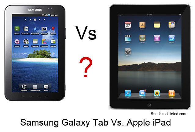 Samsung Galaxy Tablet vs iPad